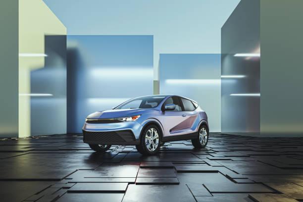 Generic modern car as product shot stock photo