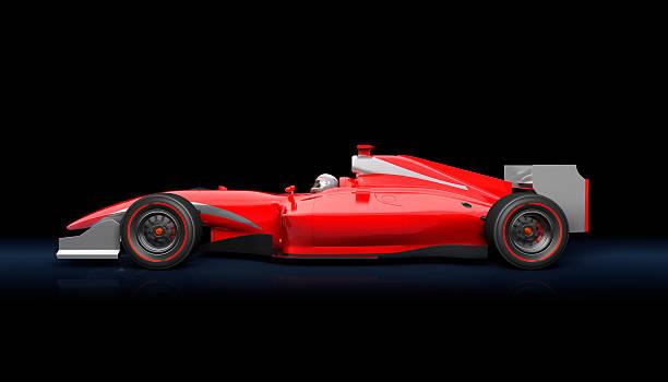 стандартный автомобиль красный гонка - formula 1 стоковые фото и изображения