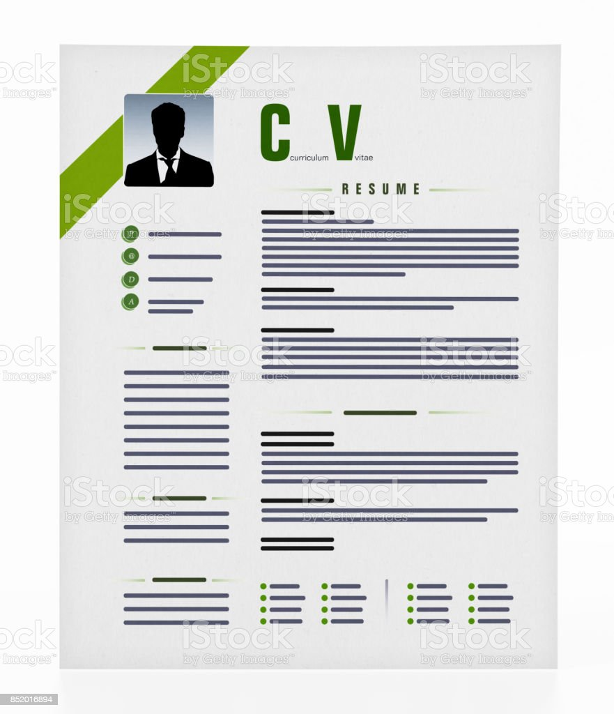 Generic Resume Isolated On White Stock Photo More Pictures Of