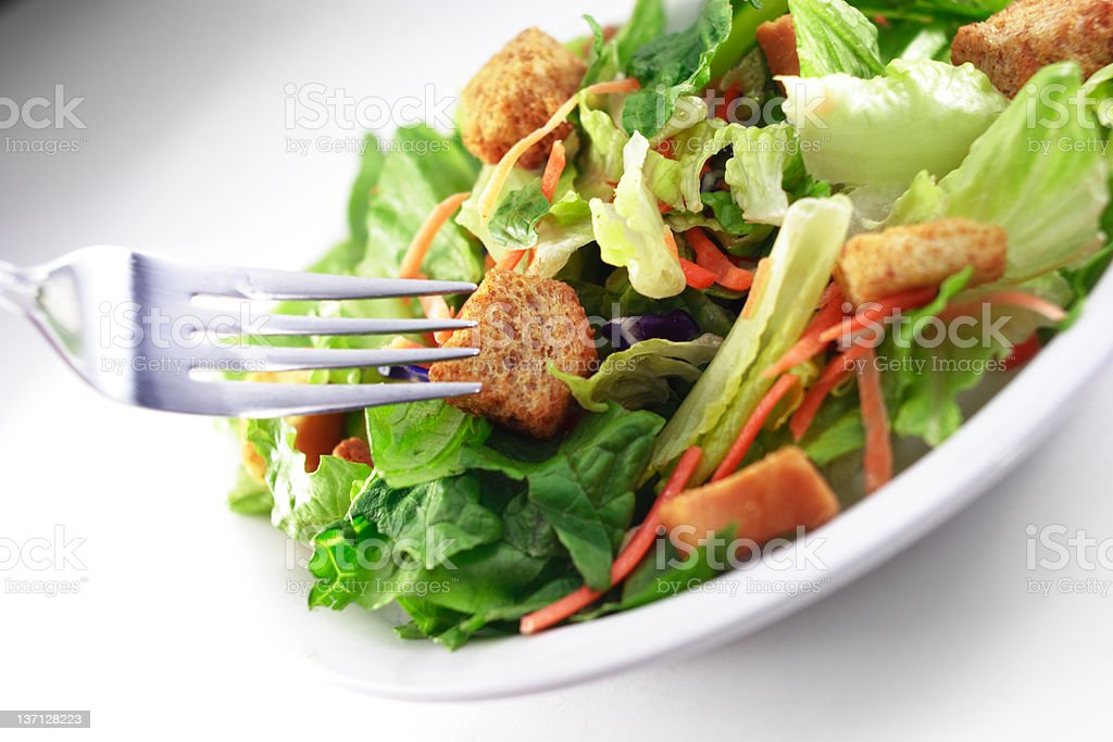 Generic Salad with fork close up royalty-free stock photo