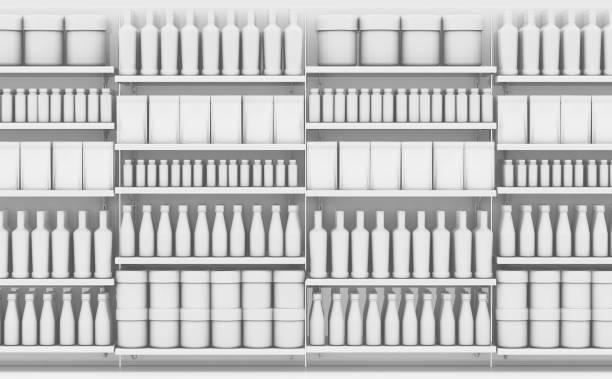 Generic Shopping Shelves stock photo