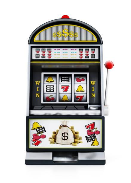 Generische Spielautomat isoliert weiß – Foto
