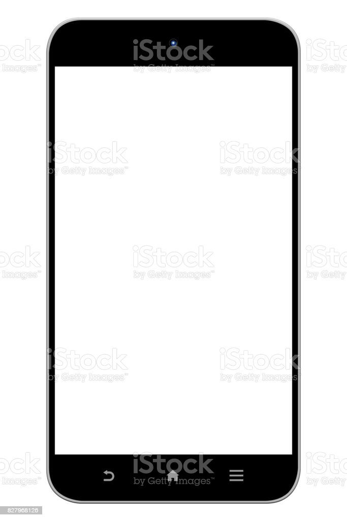 Generic Smart Phone - Clipping Paths stock photo