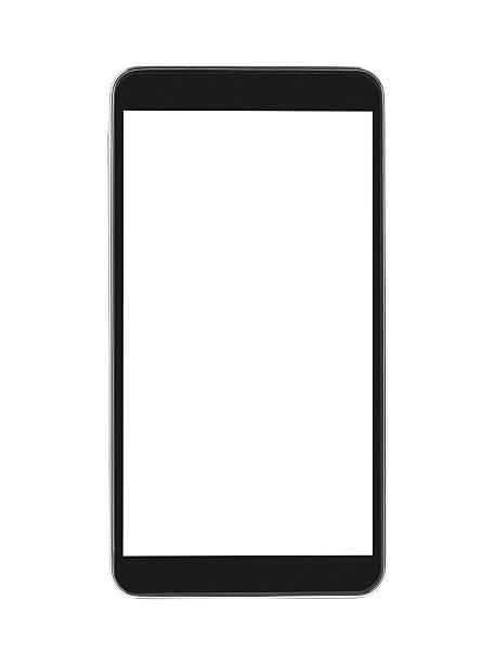 Generic smartphone with white screen, isolated stock photo