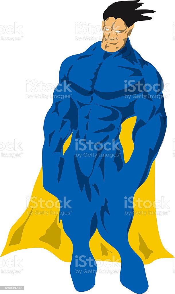 Generic superhero royalty-free stock photo