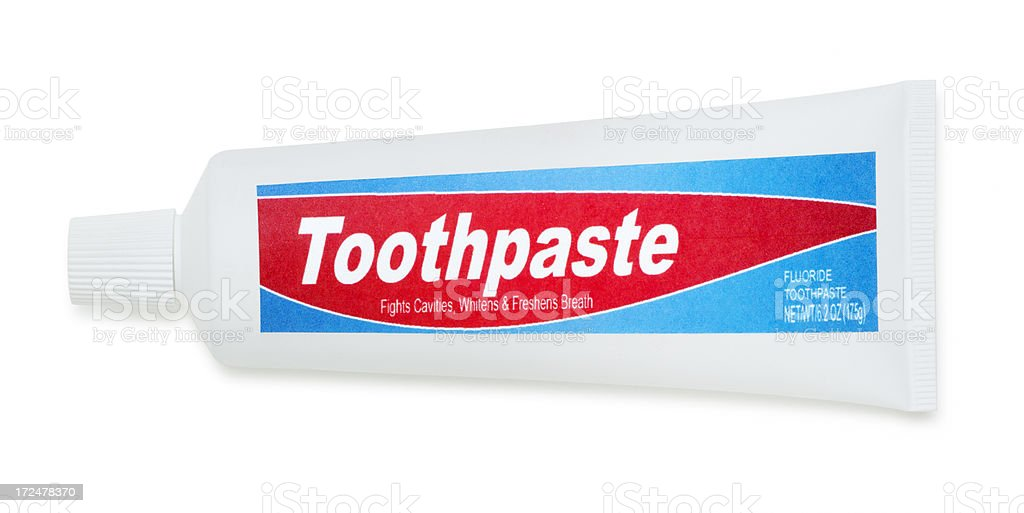 Generic Toothpaste Isolated on White royalty-free stock photo