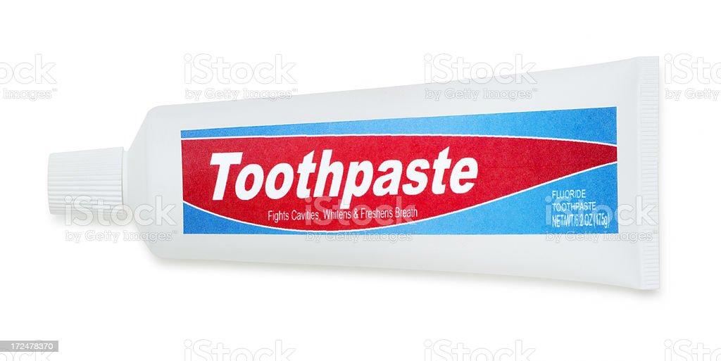 Generic Toothpaste Isolated on White stock photo