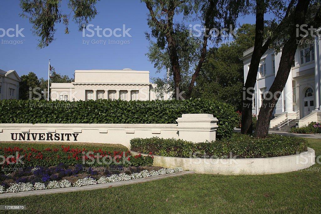 Generic University Campus royalty-free stock photo