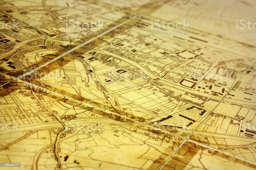 generic vintage city map royalty-free stock photo