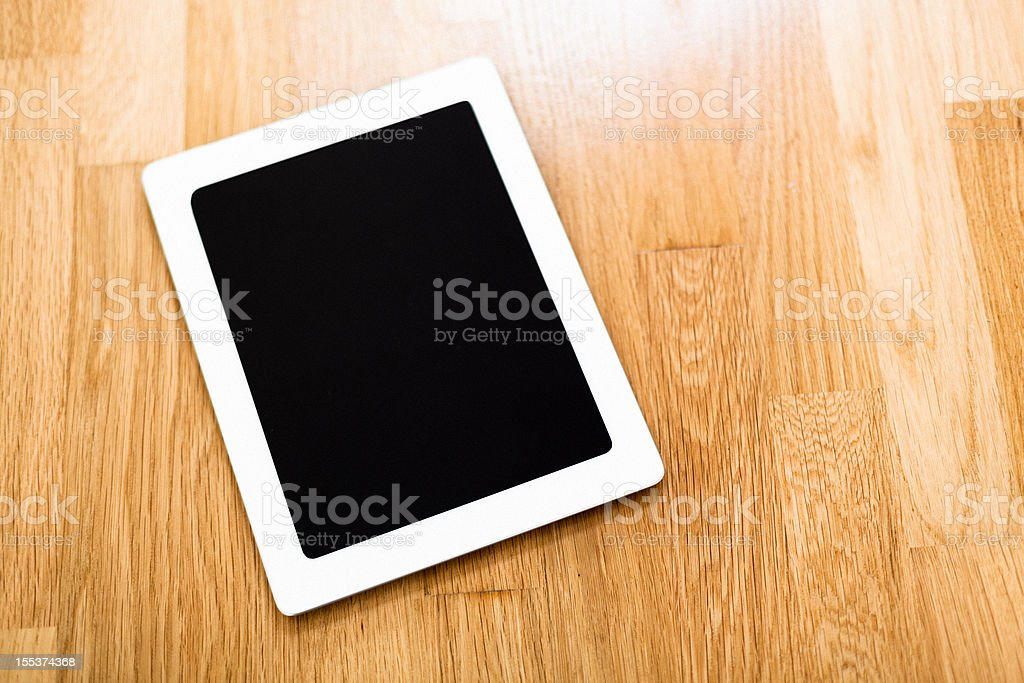 Generic White Tablet with Black Screen royalty-free stock photo