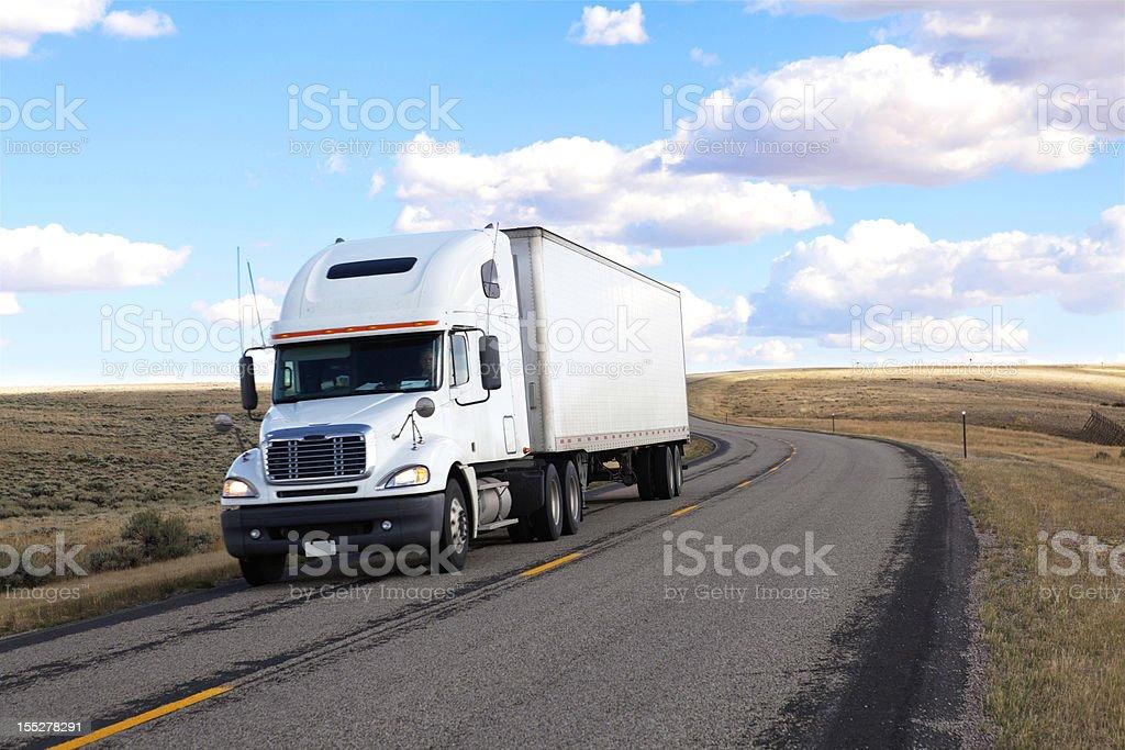 generic white truck royalty-free stock photo