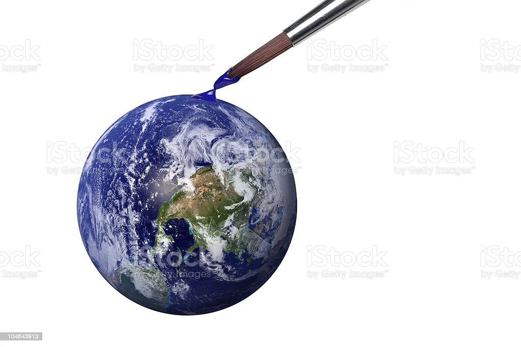Genesis - colouring blue planet earth royalty-free stock photo