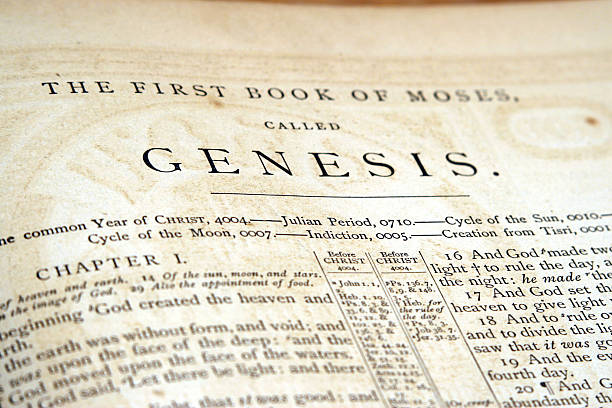 Genesis-old bible - foto de stock