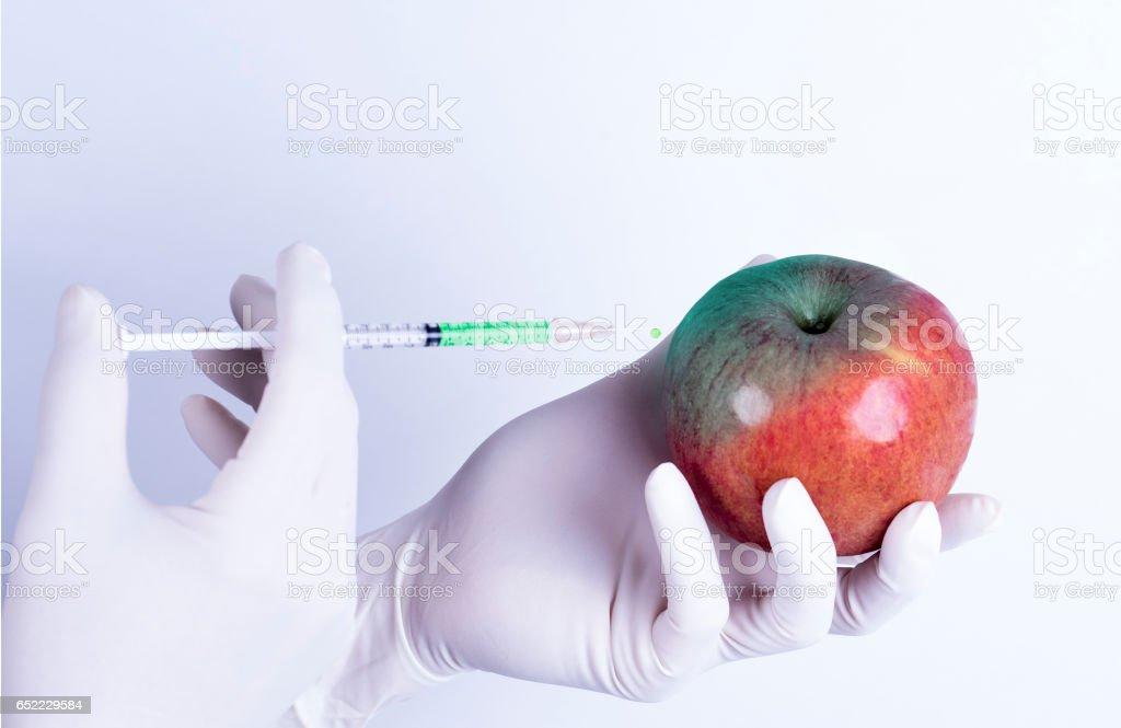 Genetic apple stock photo