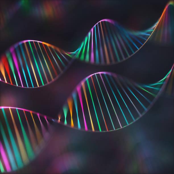DNA-Genetik-Code farbenhaften Hintergrund – Foto