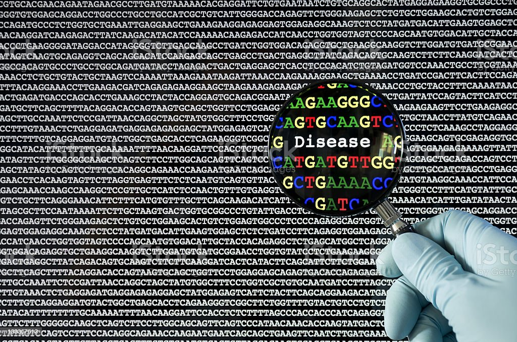 Genetic disease stock photo