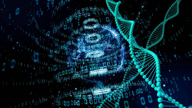 Genetic engineering and digital technology concept. Genetic engineering and digital technology concept. gene therapy stock pictures, royalty-free photos & images