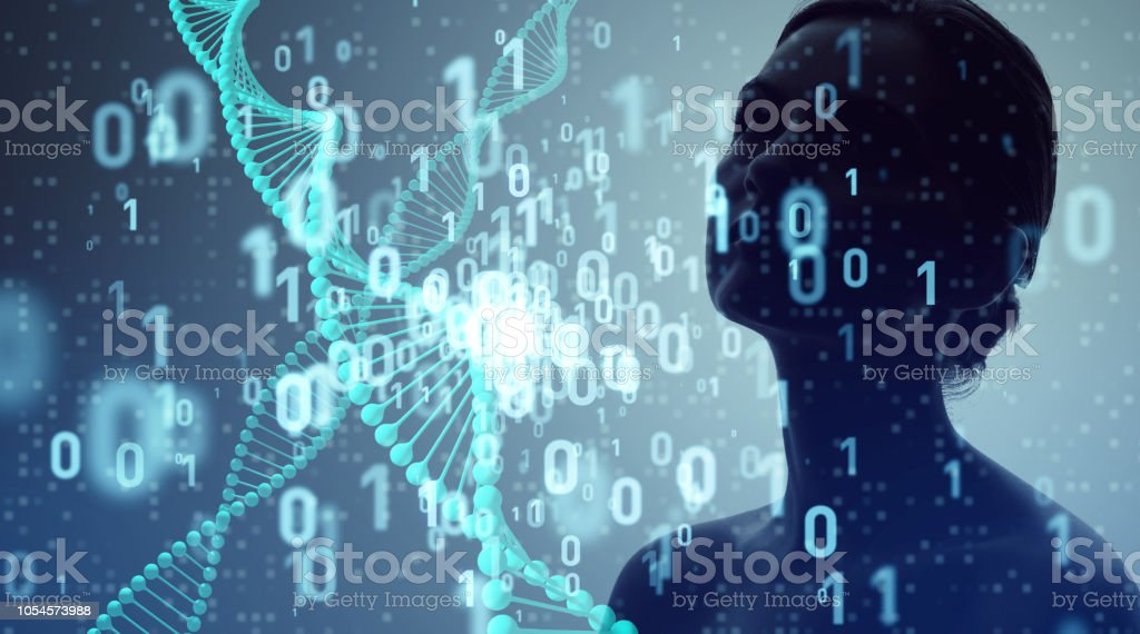 Genetic engineering and digital technology concept. - Royalty-free Abstract Stock Photo