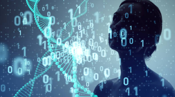 Genetic engineering and digital technology concept. Genetic engineering and digital technology concept. genetic modification stock pictures, royalty-free photos & images