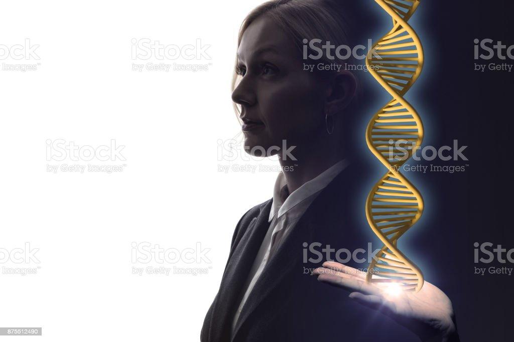 genetic engineering concept. 3D rendering. stock photo