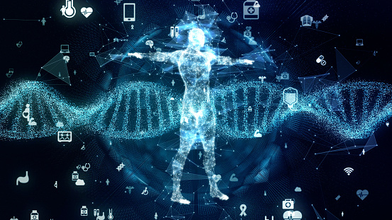 istock Genetic engineering concept. DNA. Gene therapy. Medical technology. 1249306198
