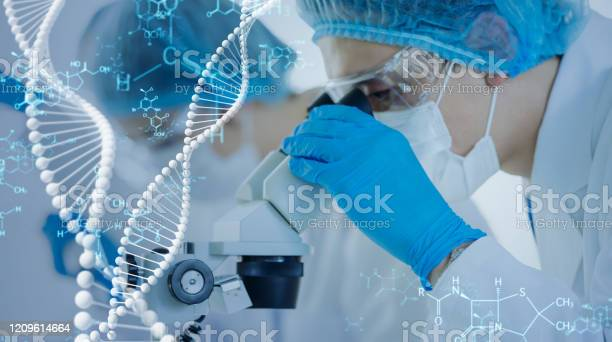 Genetic Engineering Concept Medical Science Scientific Laboratory Stock Photo - Download Image Now