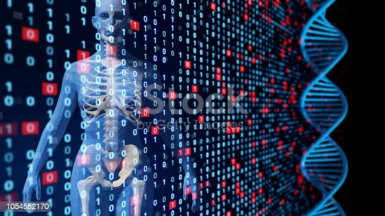 istock Genetic engineering concept. 1054552170