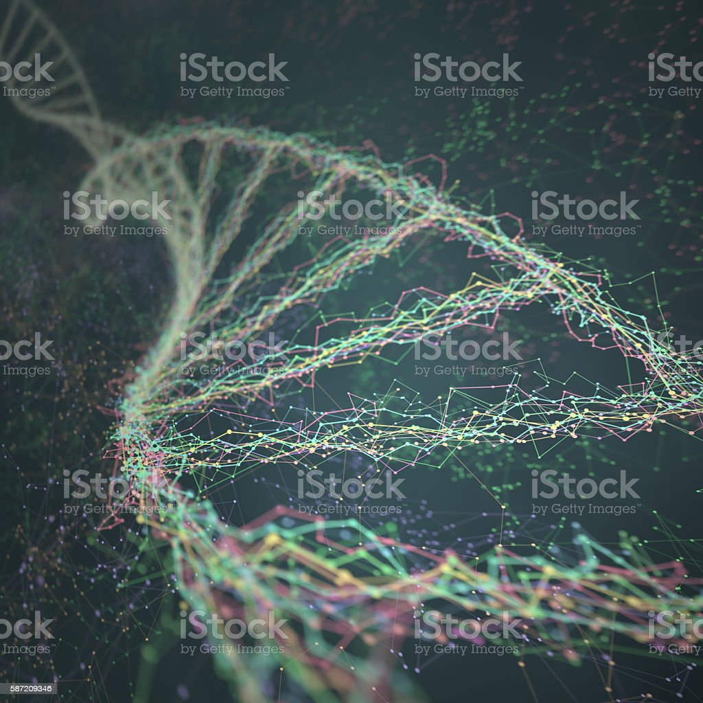 DNA Genetic Engineering stock photo