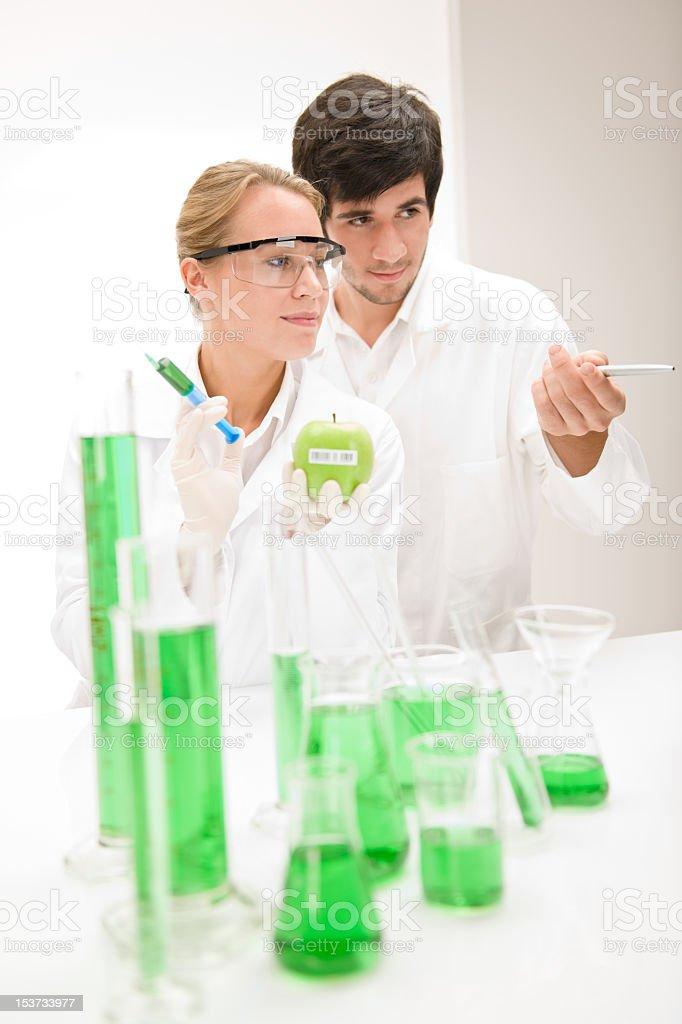 Genetic engineering - scientist in laboratory royalty-free stock photo