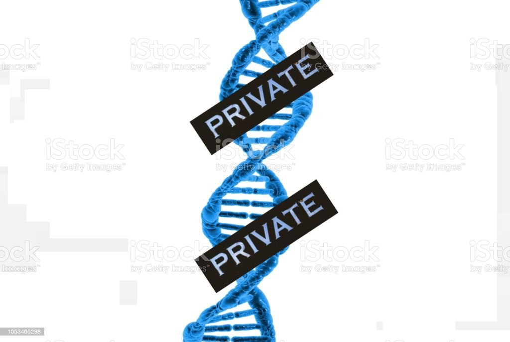 Genetic Privacy stock photo