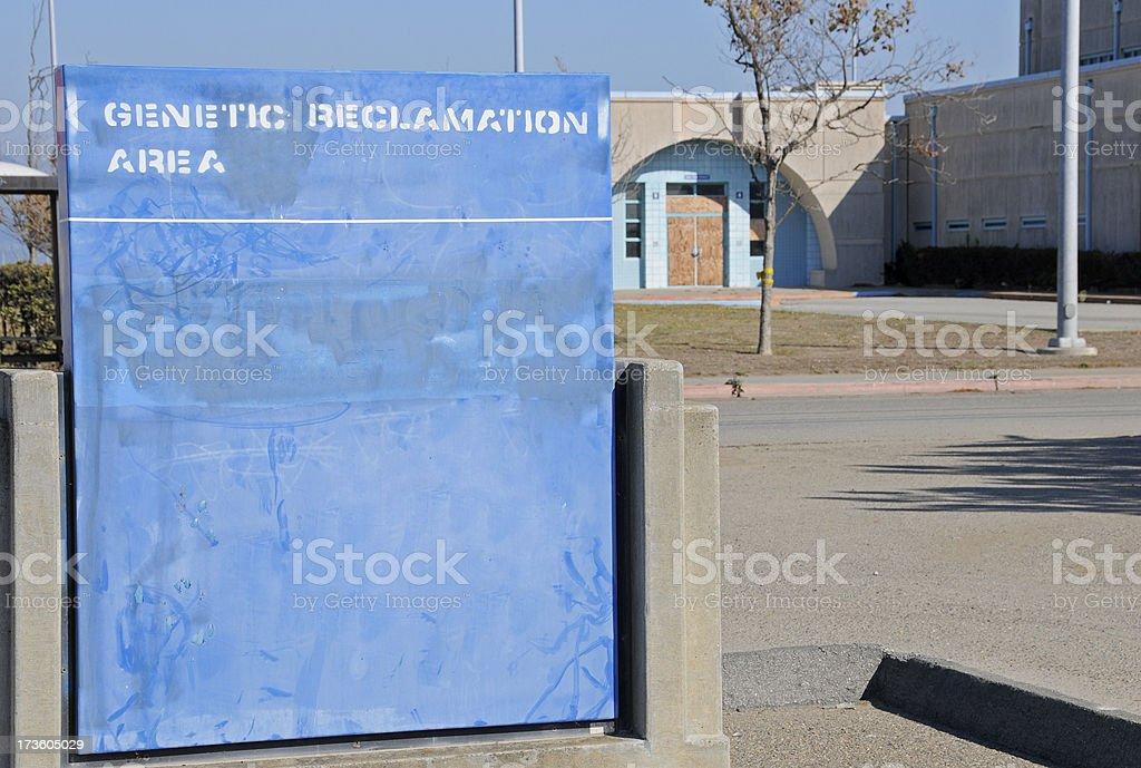Genetic reclamation area at former military base royalty-free stock photo