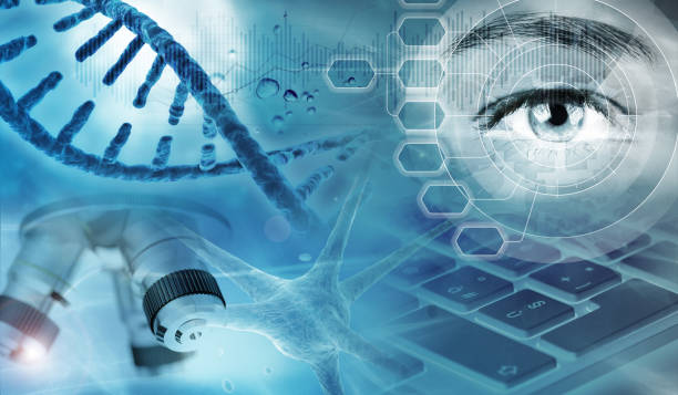genetic research abstract background stock photo