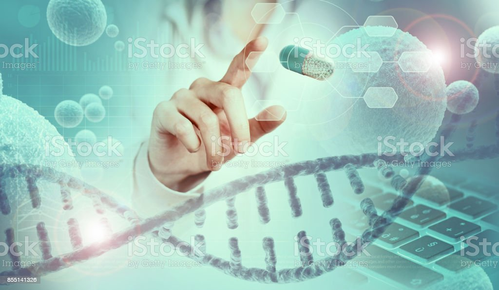 genetic research concept stock photo