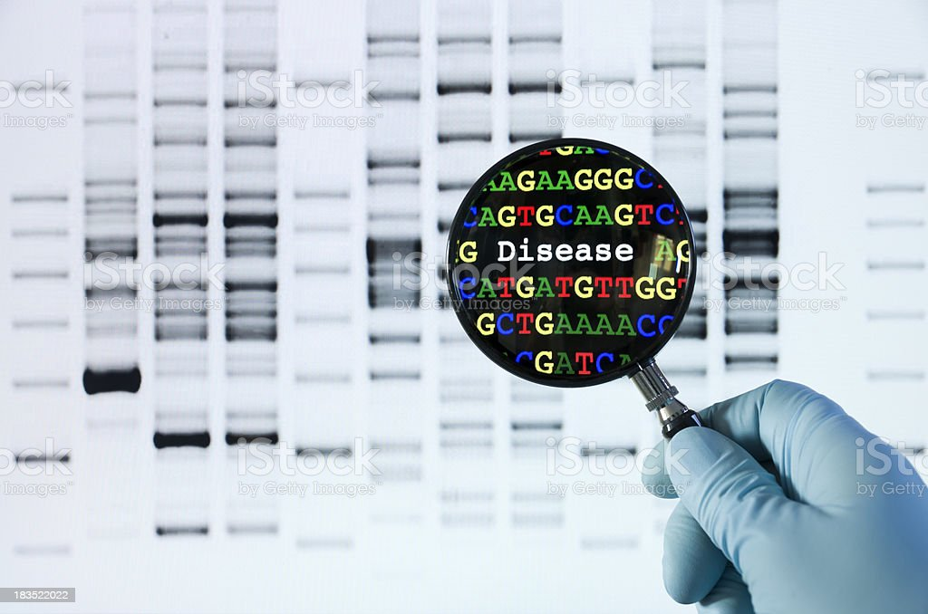 Genetic screening stock photo