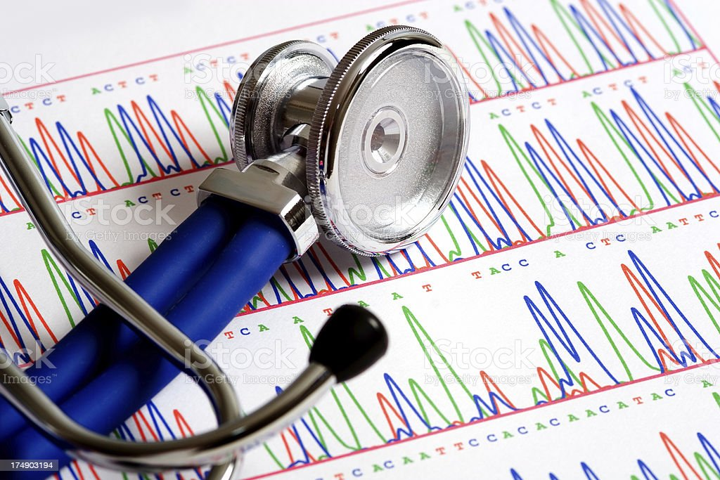 Genetics for medicine royalty-free stock photo
