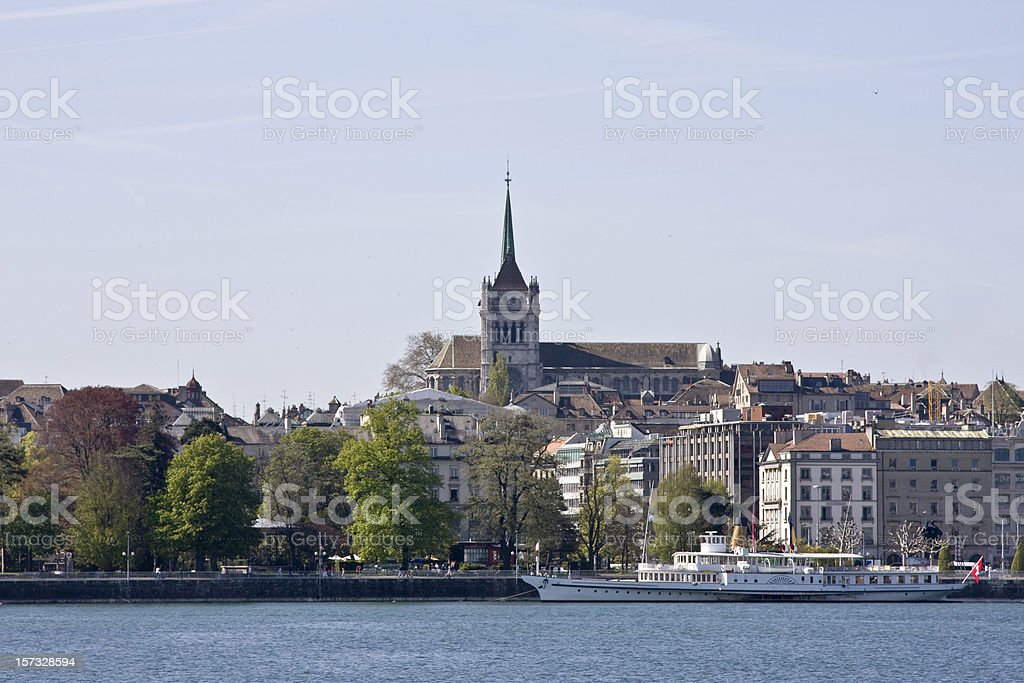 Geneva Cathedral royalty-free stock photo