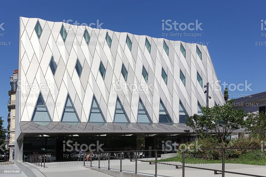 Geneva Ethnography Museum also called MEG in Switzerland stock photo