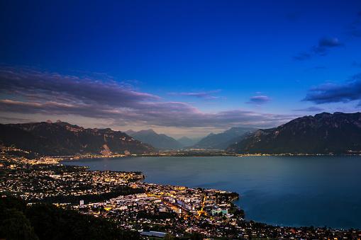 Geneva Lake at night