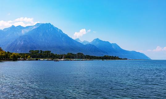 Geneva Lake near Montreux, Switzerland