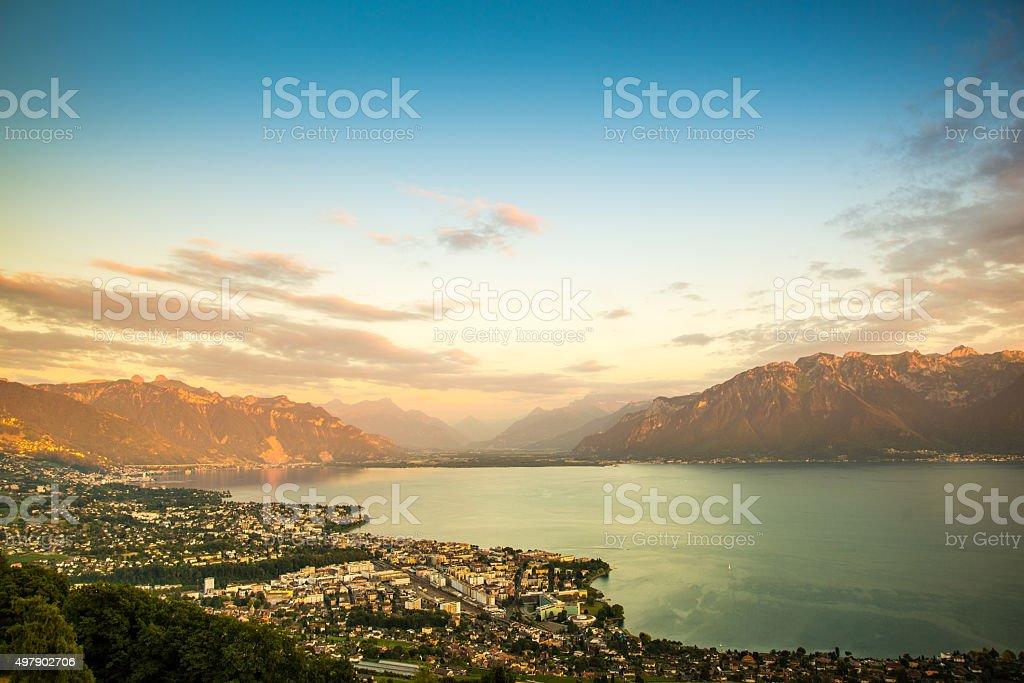 Geneva Lake stock photo