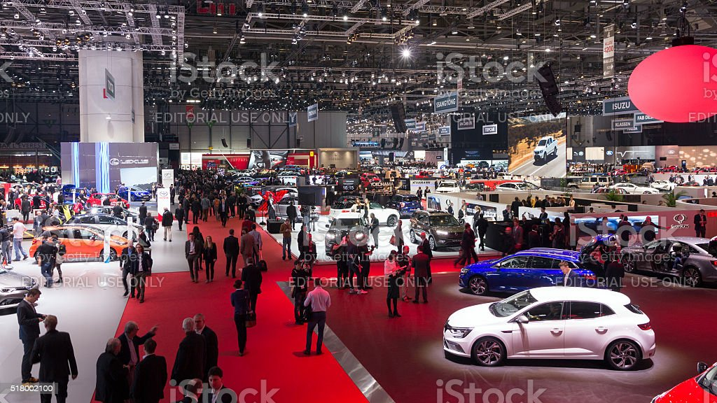 Geneva Motor Show stock photo