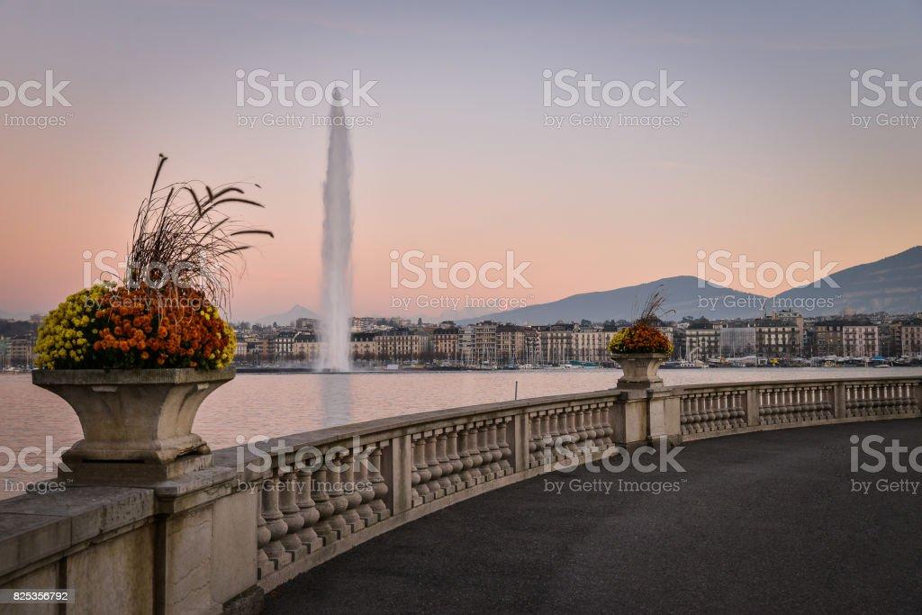 Geneve au coucher du soleil - Photo