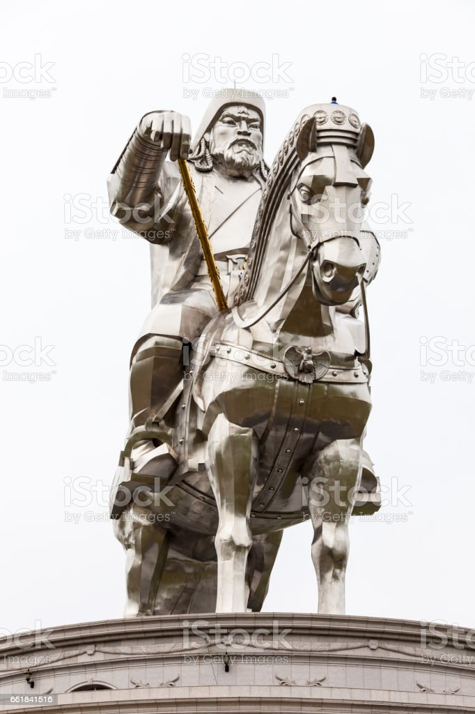 Genghis Khan Equestrian Statue stock photo