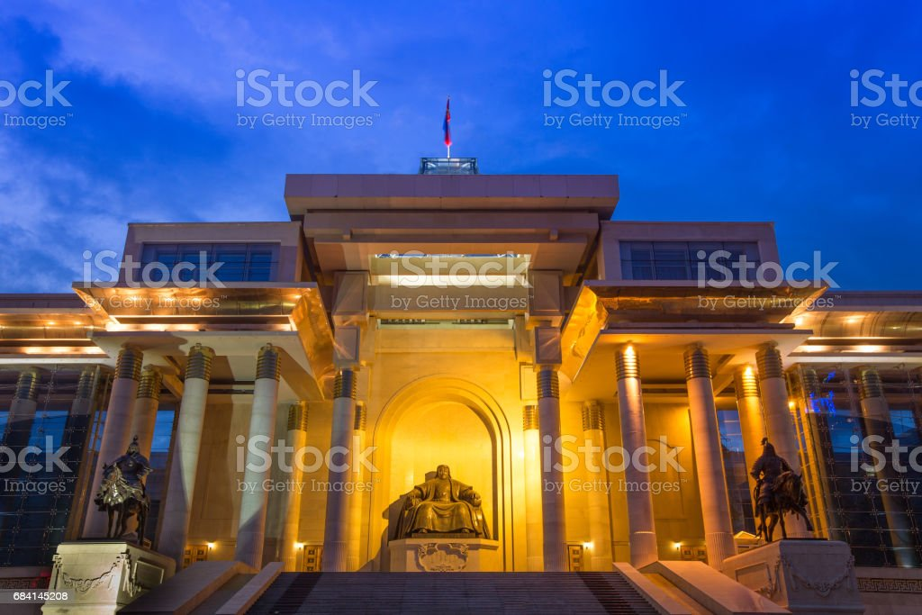 Genghis Khan Statue royalty-free stock photo