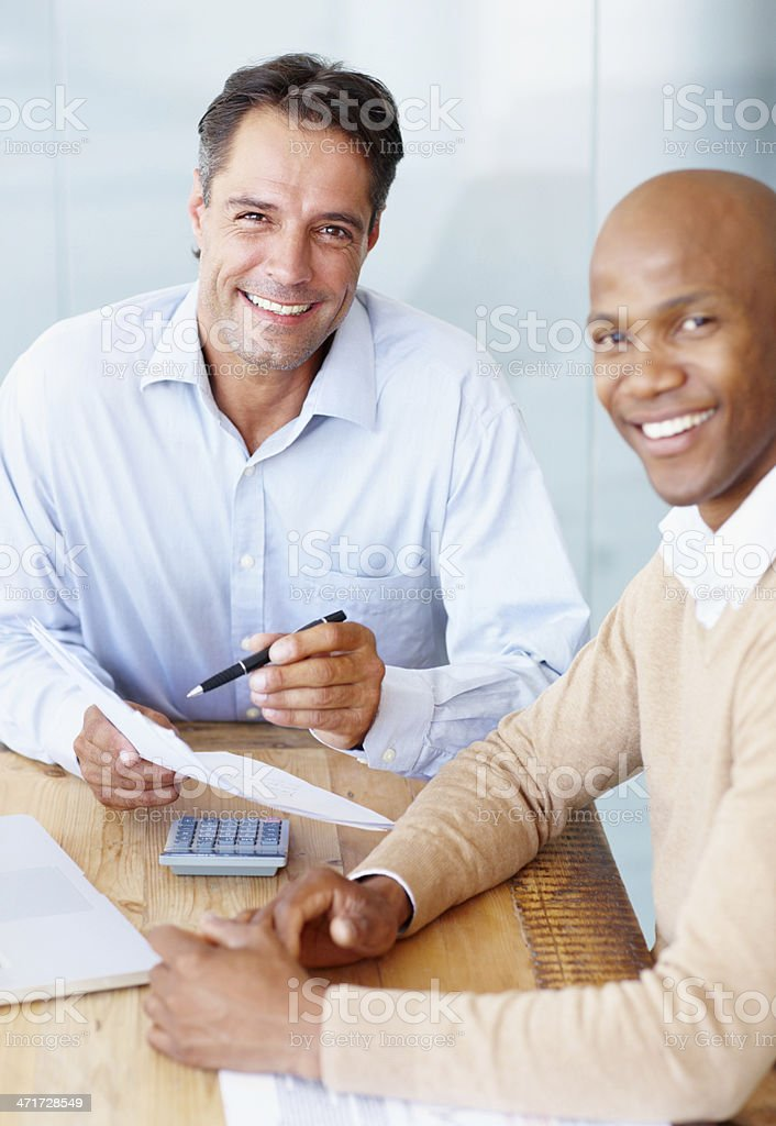 Genius accountants stock photo