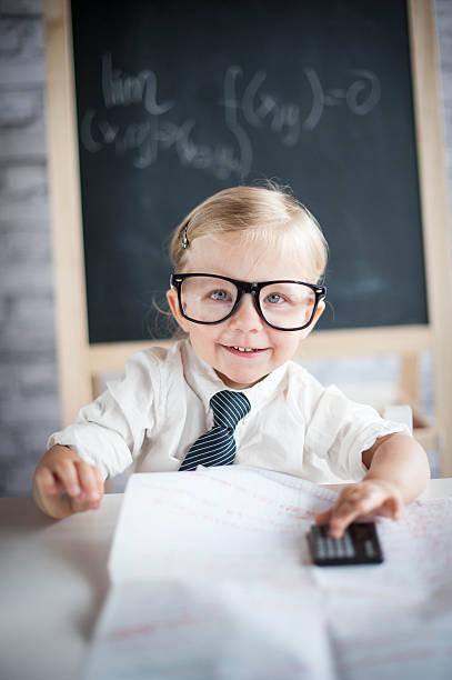 Genius baby stock photo