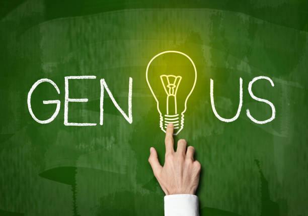 Genius / Blackboard concept (Click for more) stock photo