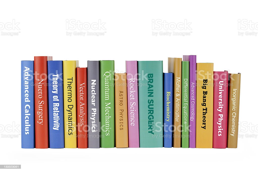 Genius books royalty-free stock photo