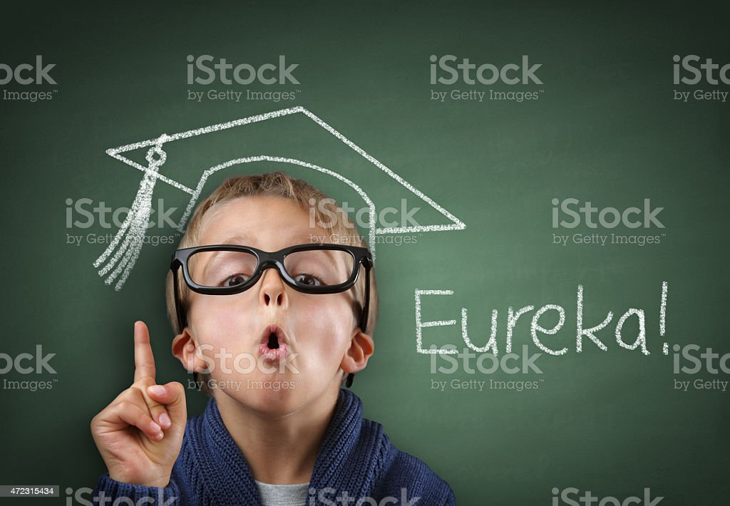 Genius in education stock photo