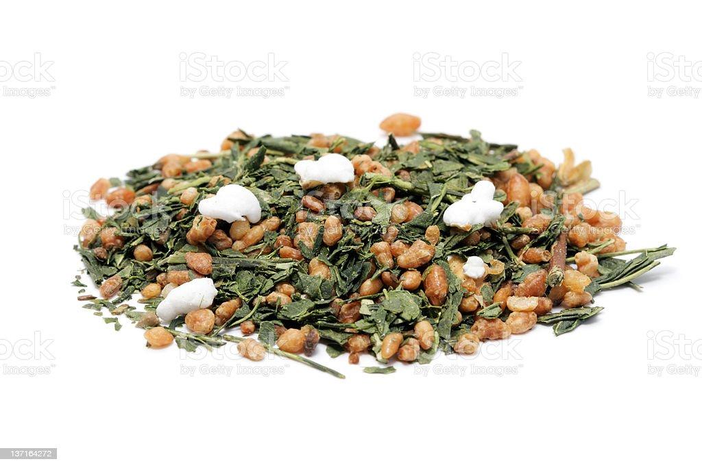 Genmaicha (brown rice tea) royalty-free stock photo